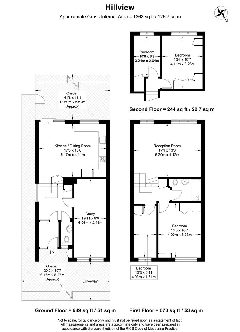 Floorplan for Hillview, West Wimbledon